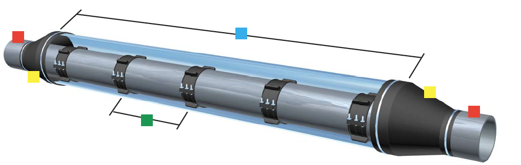 Steel Casing Pipes : Model ht casing spacer by gpt farwest corrosion control