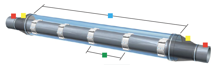 Steel Casing Pipes : Model pe casing spacer by gpt farwest corrosion control