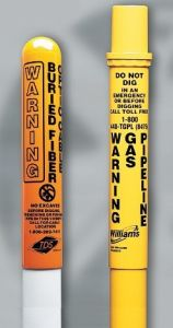 PM-303 3-Inch Line Marker Post by PRO-MARK Utility Supply